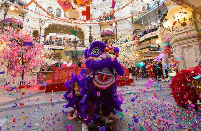 莫斯科古姆商場喜迎中國春節