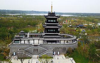 航拍第十屆江蘇省園藝博覽會 各展園生態綠色醉遊人