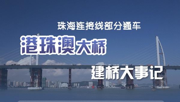 圖説:港珠澳大橋建橋大事記