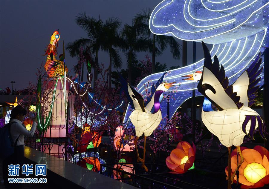 香港:彩燈迎新春