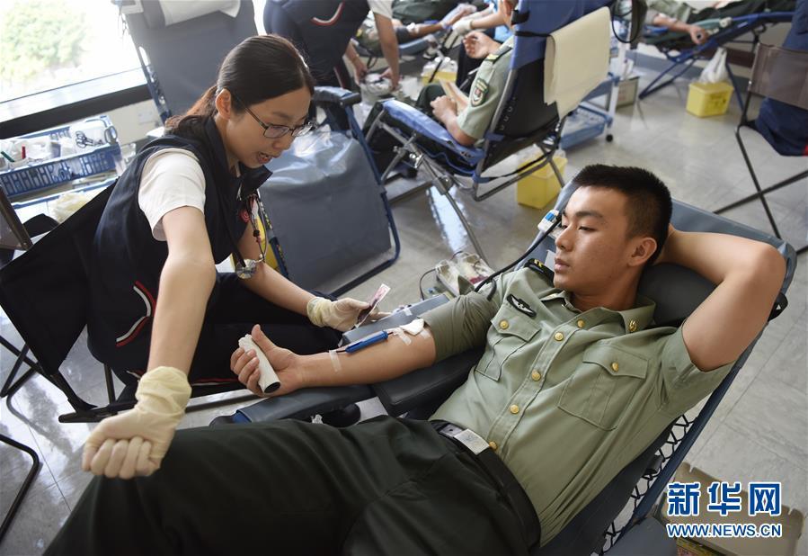 駐港部隊連續20年無償獻血 累計獻血354萬毫升