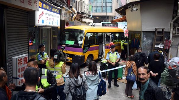 香港發生車禍 已致1人死亡13人受傷