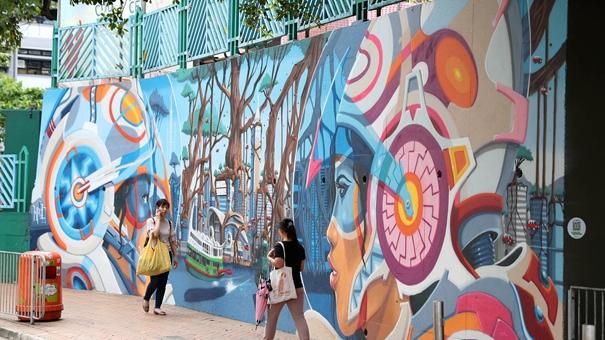 街頭涂鴉:香港城市風景  (圖)