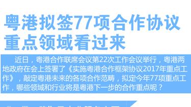 圖説:粵港擬簽77項合作協議