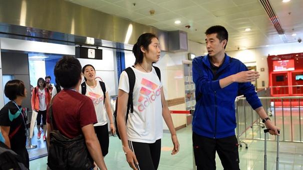 中國女排抵達香港