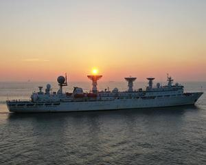 遠望3號船安全駛入長江入海口