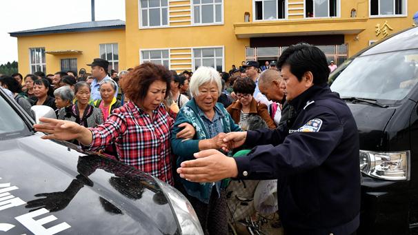 黑龍江:暴雨成災 群眾轉移