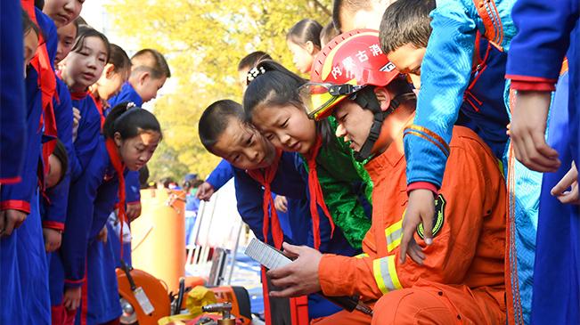消防演練進校園