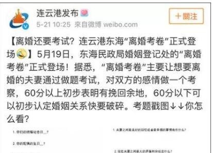 """""""離婚考卷""""戳中中國婚姻四大痛點"""