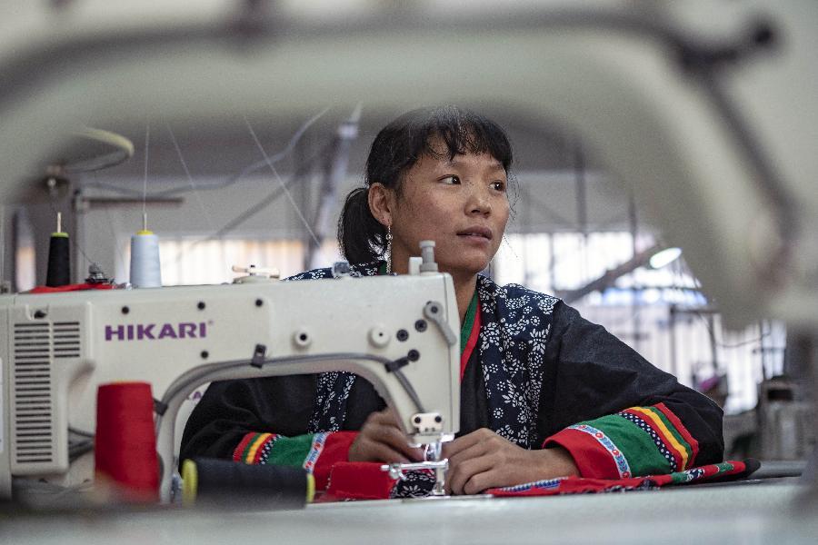 雲南怒江:扶貧車間助力脫貧
