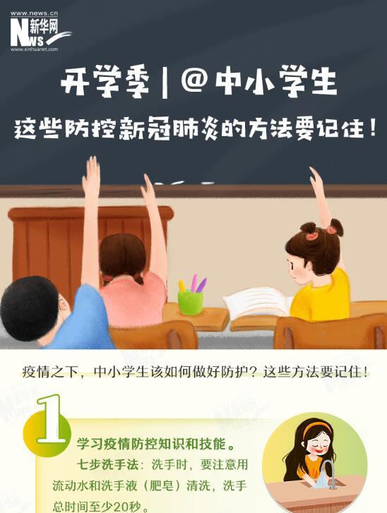 @中小學生 這些防控新冠肺炎的方法要記住!