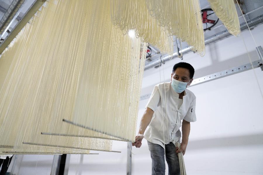 重慶北碚:北泉水磨手工面傳統制面技藝