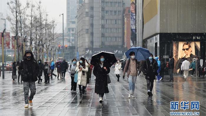 成都市區迎來降雪