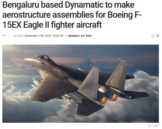 进一步忽悠印度买飞机?波音宣布F-15E