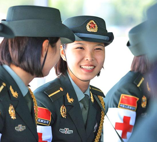 閱兵中的最美中國女兵