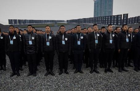 侵華日軍南京大屠殺遇難同胞紀念館舉行下半旗儀式