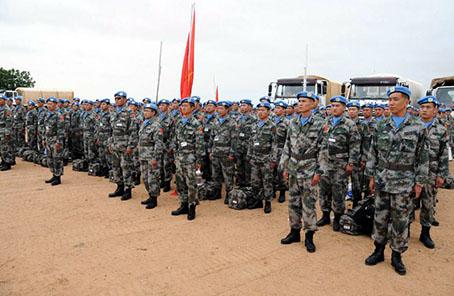 中國赴蘇丹達爾富爾維和部隊完成第14次輪換交接