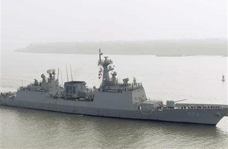 韓國海軍艦艇編隊訪問上海