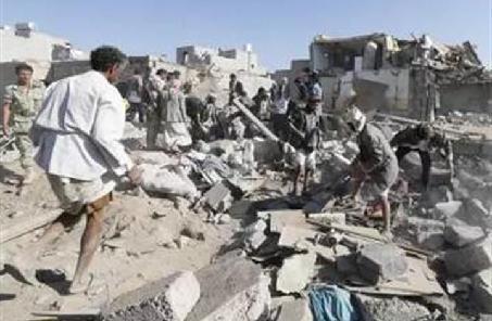 也門多地遭到多國聯軍戰機空襲