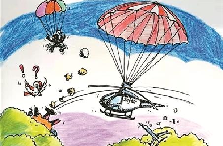 """降落傘——直升機的新""""護身符"""""""