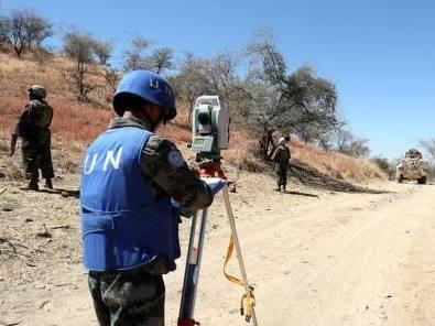 中國維和工兵為聯非達團縮編完成多點位施工勘察任務