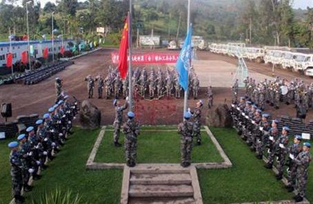 中國赴剛果(金)維和部隊進行第22次輪換