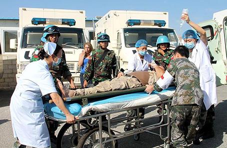 中國維和官兵參加聯黎部隊醫療救援演習