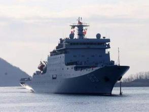 中国海军戚继光舰抵达帝力港受到隆重欢迎