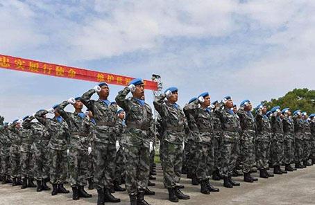 """中國赴黎巴嫩維和人員援建""""中黎和平廣場""""側記"""