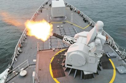東部戰區海軍某驅逐艦支隊艦艇開赴東海某海域進行訓練