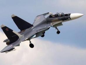 俄軍一架蘇-30戰鬥機墜毀