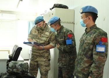 中國新一批赴黎維和部隊接受首次裝備核查