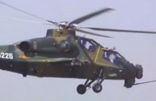 """我軍直-10K武裝直升機備戰""""航空飛鏢""""國際競賽"""