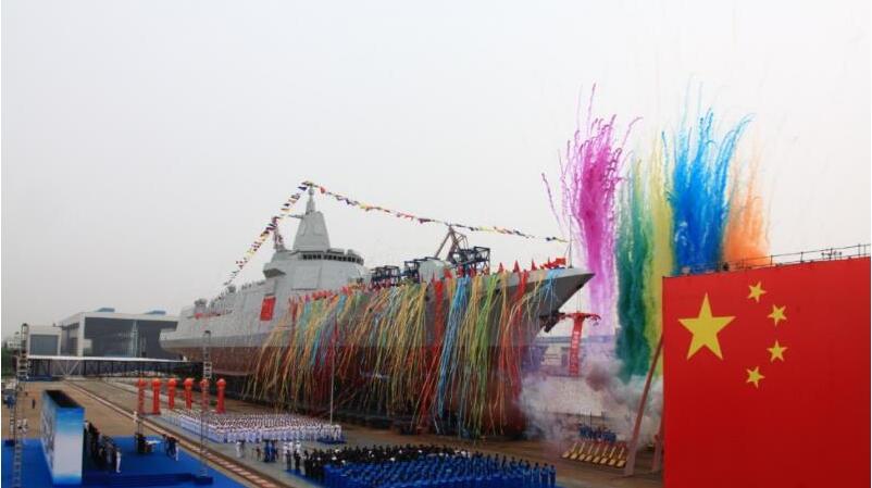 我國新型萬噸級驅逐艦首艦下水