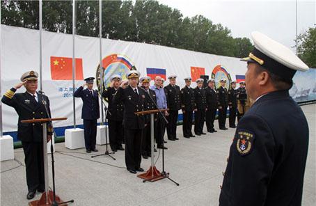 中俄參加海上聯演艦艇編隊起航 演習轉入實兵演練階段