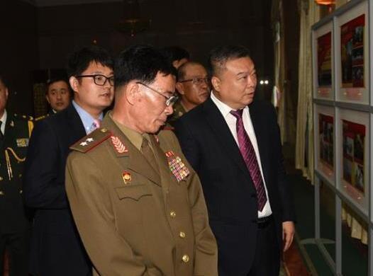 中國駐朝使館舉行建軍節招待會