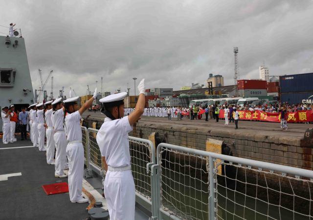 中國海軍遠航訪問編隊結束訪問離開坦桑尼亞