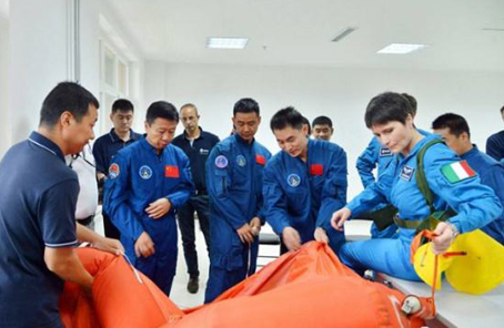 外國航天員首次來中國參加參與大型訓練任務