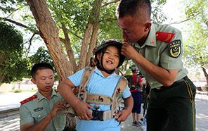 內蒙古二連邊防檢查站舉辦警營開放日活動