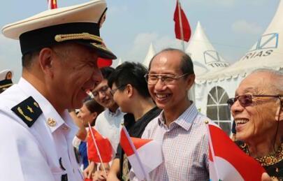 中國海軍遠航訪問編隊結束訪問離開印度尼西亞