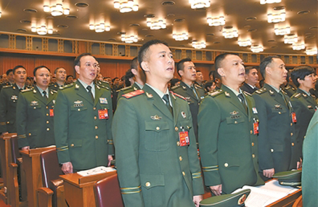 武警部隊代表團熱烈討論十九大報告