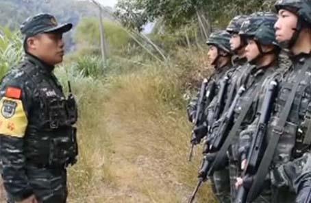 武警福建總隊組織實戰反恐演練 陌生峽谷追殲