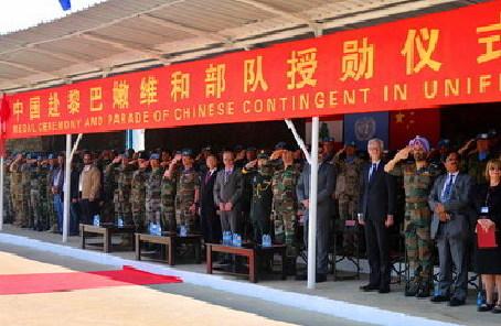 聯黎部隊司令高度讚揚中國掃雷分隊表現
