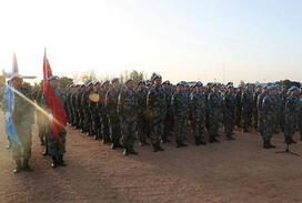 中國第14批赴蘇丹達爾富爾維和工兵的海外中國年