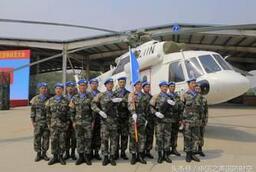 中國首支維和直升機分隊官兵堅守戰位迎新春