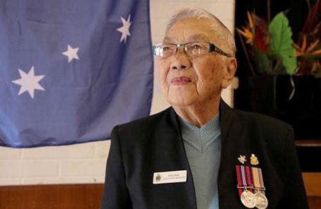 """""""澳新軍團日""""91歲華裔女軍人講述二戰從軍史"""