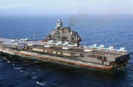 """載機稀少:美媒稱俄海軍航母""""不夠完美""""戰力有限"""