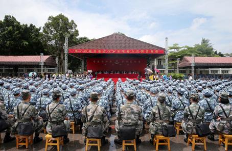 第14屆香港青少年軍事夏令營開營