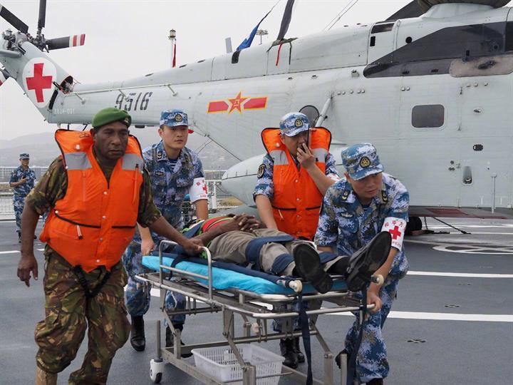 中國和巴布亞新幾內亞舉行聯合應急醫學救援演練