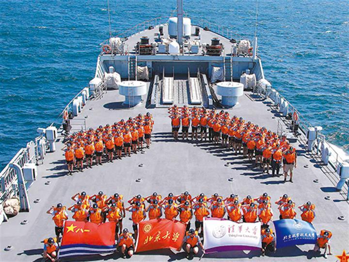 百余名高校優秀師生參加海軍航海實習都幹些啥?